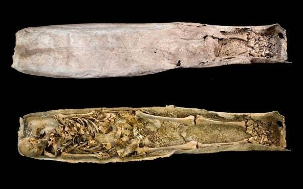 Archaeologists lift lid on mystery coffin buried near Richard III
