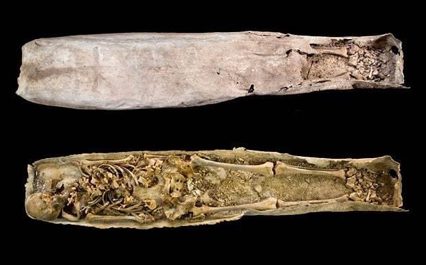 Archaeologists lift lid on mystery coffin buried near Richard III