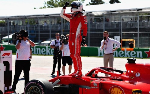 Sebastian Vettel takes Canadian Grand Prix pole with qualifying masterclass as Lewis Hamilton struggles