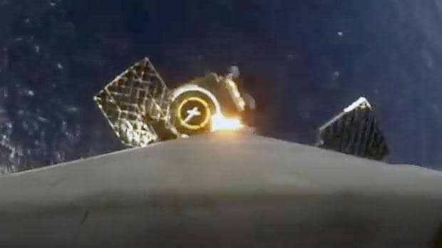 Camera attached to SpaceX rocket captures unique view of Earth landing