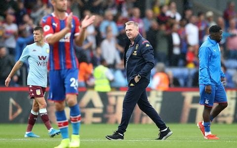 Dean Smith condemns Aston Villa's disallowed equaliser at Crystal Palace: 'The officials have to be better'