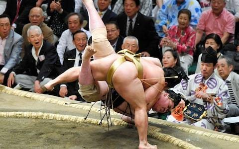 Backlash as Trump set to shun tradition with his own ringside seat at sumo tournament in Japan