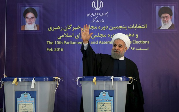Iran rejected 'confrontation' says Hassan Rouhani as allies win 90 seats