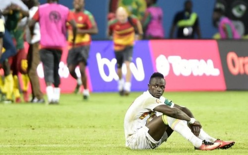 Sadio Mane carried from the pitch in tears after missing crucial Africa Cup of Nations penalty for Senegal