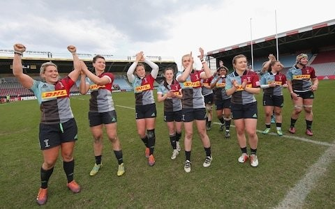 Harlequins set up rematch of last year's Premier 15s final with Saracens after victory over Loughborough