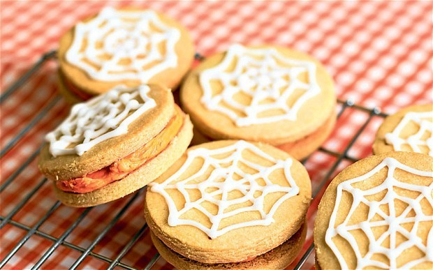Rose Prince's Baking Club: Halloween spider web shortbreads
