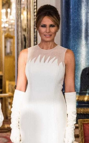 Melania channels Audrey Hepburn's beauty style for State Visit