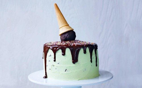 Martha Collison's mint chocolate 'ice cream' cake