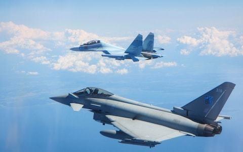 RAF Typhoons in Estonia scramble to intercept Russian fighters