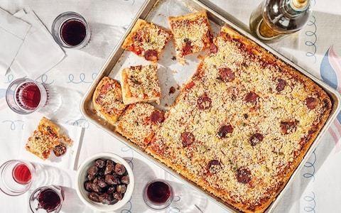 Sicilian pizza (sfincione) recipe