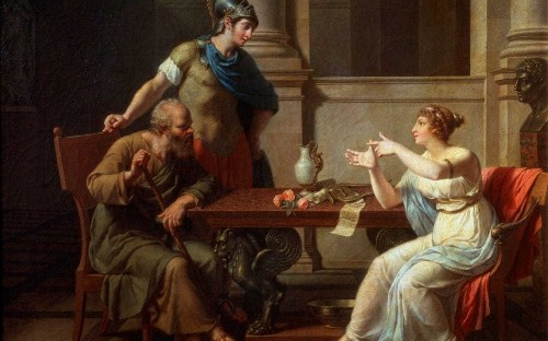 Why was Socrates's mistress erased by history?