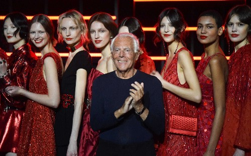 Giorgio Armani criticised for saying fashion industry 'raping' women with revealing outfits