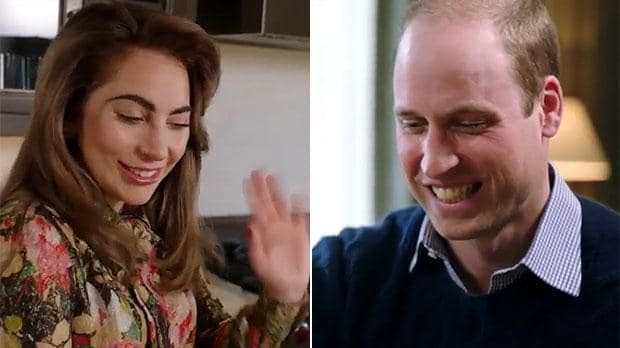 'Feeling sad and going on stage is hard' says Lady Gaga in video with Duke of Cambridge