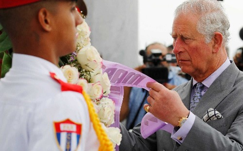 Prince Charles pays respects to revolutionary hero in landmark visit to Cuba