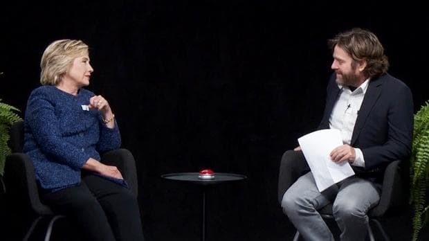 Her funniest interview yet? Hillary Clinton appears on Zach Galifianakis's Between Two Ferns