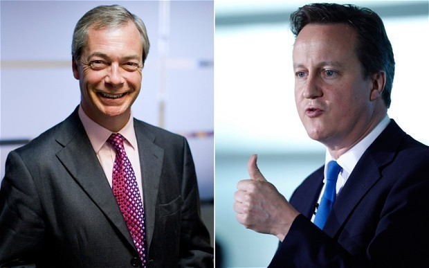 David Cameron ready to take on Nigel Farage in live debate