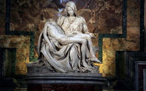 Decade of detective work shows that terracotta figure of Mary cradling Christ was made by Michelangelo