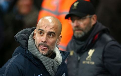 Pep Guardiola says Manchester City are victims of their own success and helped Liverpool raise their game