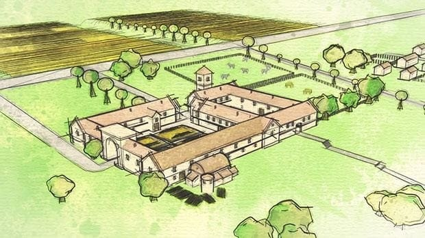 'Unparalleled' discovery of Roman villa beneath Wiltshire garden