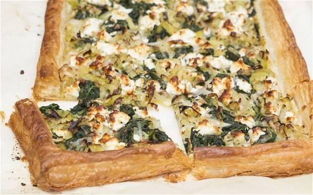 Leek, spinach and feta tart recipe