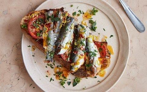 Spicy, lemony, herby sardines on toast recipe