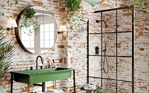 Trendy taps, bold wallpaper and stylish storage: how to make your bathroom stand out from the crowd