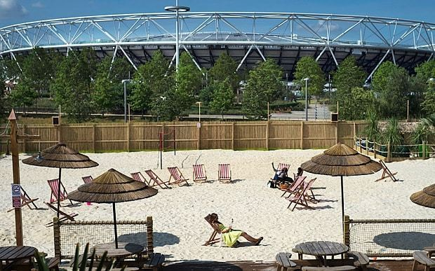 UK's largest urban beach opens at the Olympic Park