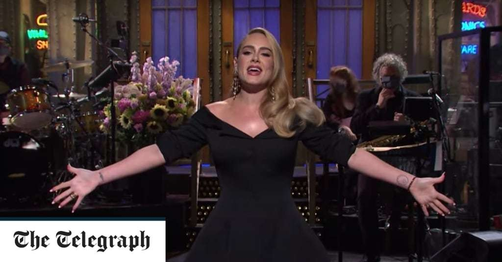 Adele jokes about weight loss and Sarah Palin as she hosts Saturday Night Live