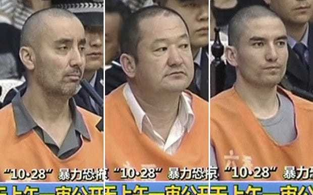 China executes eight people including three Tiananmen Square attack leaders