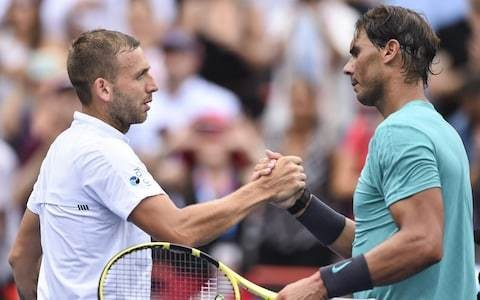 Dan Evans fails to capitalise on early lead before Rafael Nadal completes Rogers Cup second-round fightback