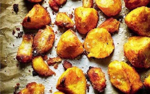Saffron roast potatoes recipe