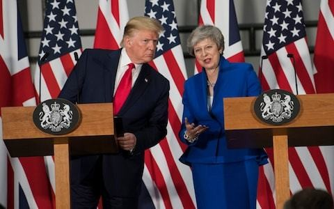 Theresa May smiled helplessly, as Donald Trump embarrassed her again and again