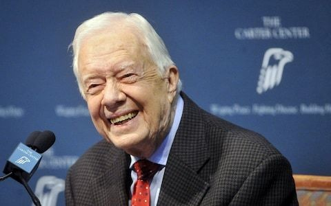 Jimmy Carter says US has become more an 'oligarchy than a democracy' in speech critical of Trump
