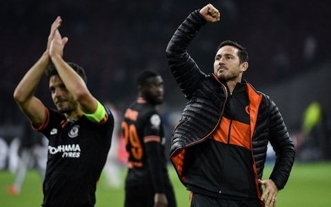 Frank Lampard 'delighted with every element of the performance' after Chelsea strike late against Ajax in Champions League win