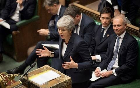 Theresa May's final speech as Prime Minister secured her legacy as patron saint of the the soggy centre