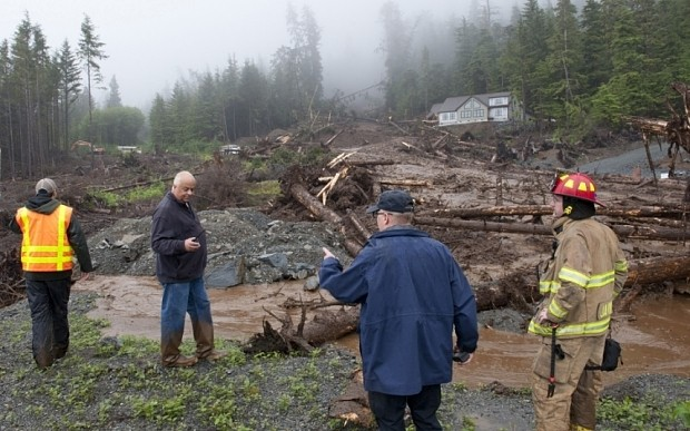 Three missing after Alaskan landslide