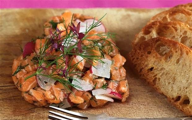 Valentine's Day recipes: salmon tartare