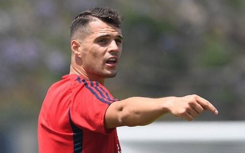 Granit Xhaka the leading candidate to replace Laurent Koscielny as Arsenal captain