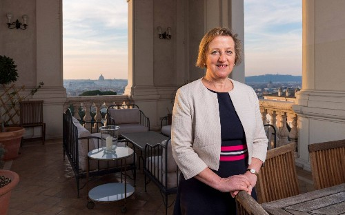 Sally Axworthy, our woman at the Vatican: 'It is a very male-dominated place'