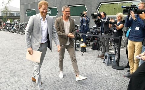 Duke of Sussex takes commercial flight to Amsterdam to announce new project to 'transform travel industry'