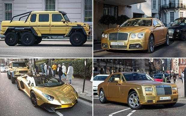 Saudi tourist brings four gold cars worth more than £1m to London
