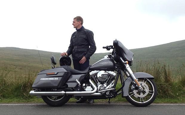 Harley-Davidson Street Glide on tour