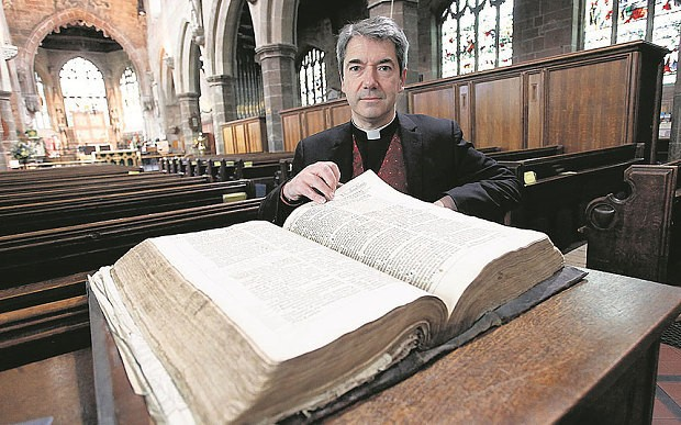 First edition of King James Bible from 1611 found in church cupboard