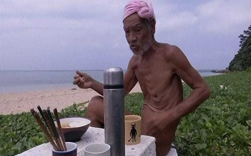 Japanese hermit forced to give up his remote island paradise after nearly 30 years living naked and foraging for food