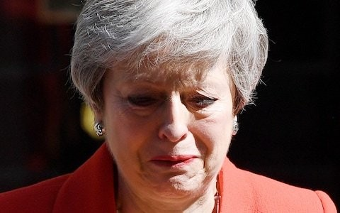 Theresa May was harder to get out than chewing gum