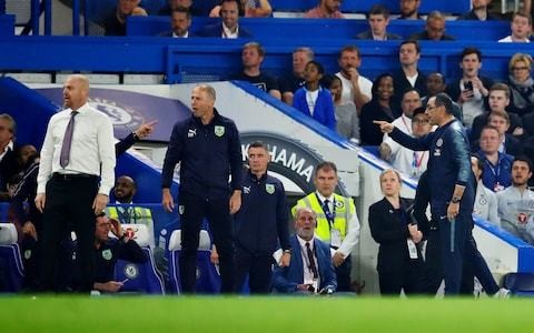 Maurizio Sarri claims he was called a 's*** Italian' by Burnley staff during Stamford Bridge bust-up