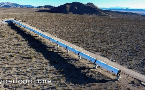 The future of travel? First photos of Hyperloop test track built in Nevada desert