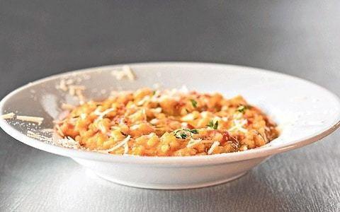 Tomato, red chilli and ricotta risotto recipe