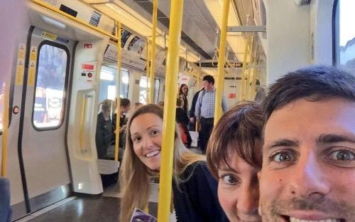Novak Djokovic 'officially a Londoner' in pre-Wimbledon tube selfie with wife Jelena