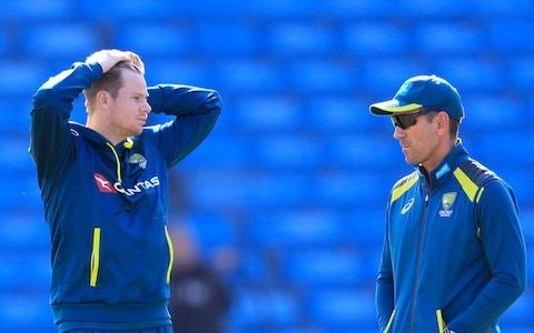 Justin Langer says Australia will not fire bouncers back at England: 'We are not here to see how many helmets we can hit'